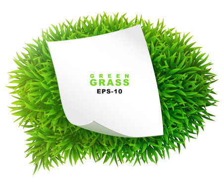 Grassy communication bubble with a clean sheet of paper Vector