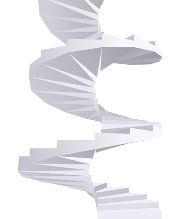 spiral vector: White Spiral staircase. Vector illustration.