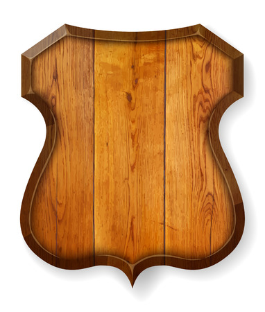 Realistische houten plank. Vector illustratie.
