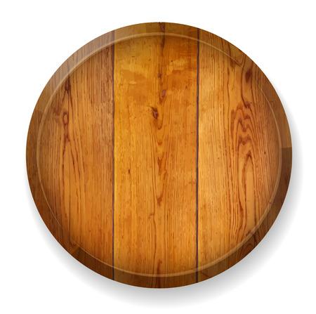 Realistische houten ronde raad. Vector illustratie. Stock Illustratie