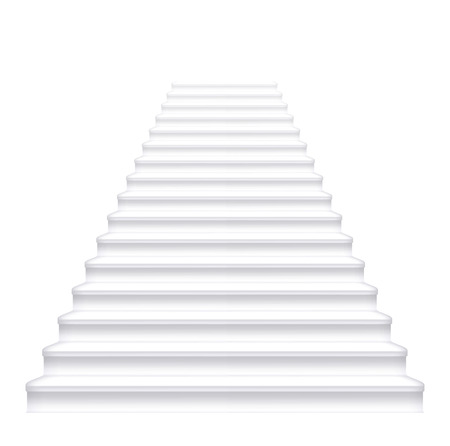 Front white staircase. Vector illustration. Stock Vector - 25517806