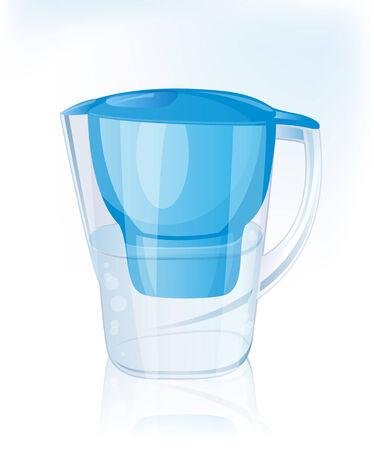 drinkable: Jug filter for water. Vector Illustration.