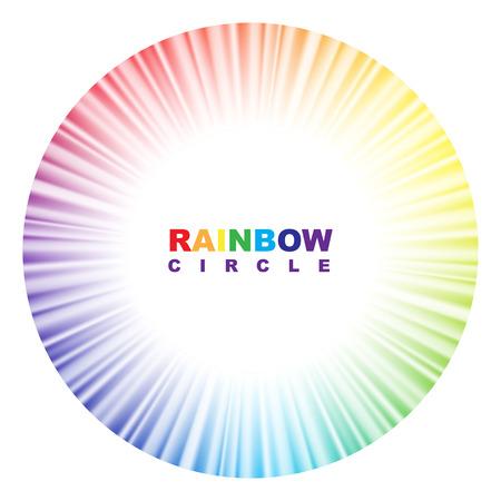 circulos concentricos: Círculo del arco iris. Ilustración del vector. Vectores