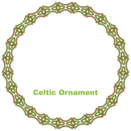 irish christmas: Celtic round frame illustration.