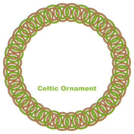 Celtic round frame illustration. Stock Vector - 27881749
