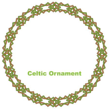 Celtic round frame. Vector illustration. Stock Vector - 28289393