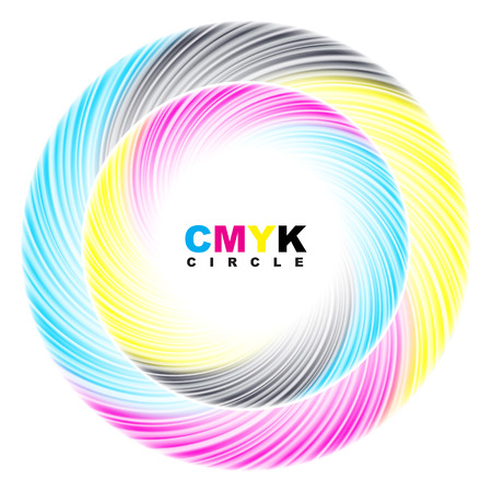cmyk abstract: Abstract CMYK circle. Vector illustration.