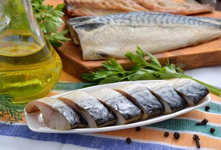 Cold smoked mackerel