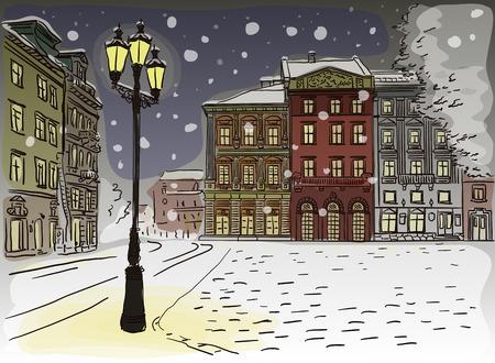 Antique European street.