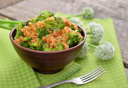 rusk: Fried broccoli with the crushed rusk