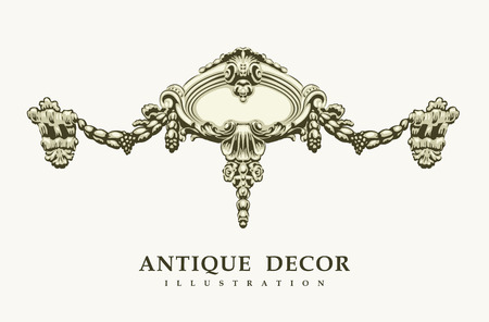 bohemia: Classical antique decor. Vector illustration.