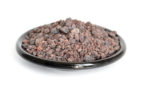 sal: Indio Negro Sal sal negra. Aislado.