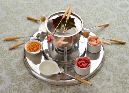 The Chinese fondue with broth