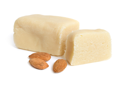 Homemade Marzipan with almonds.