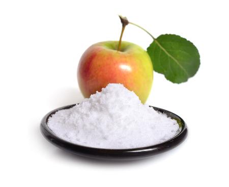 Fructose of vruchtensuiker Met appel Stockfoto