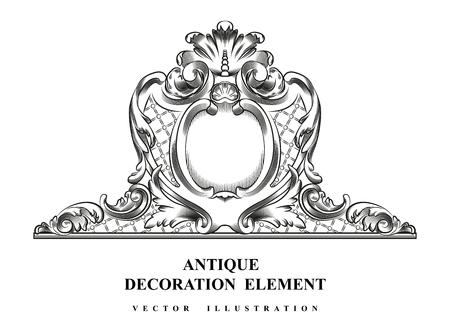 Vintage architectural Decoration elements for design. Vector illustration. Illustration