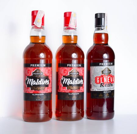Whiskey and rum. Made from theworlds finnest rawmaterials Packing and manufacturing according to the Egyptian Standard Specifications n.189 of 2006. Specially for all inclusive hotels Redakční