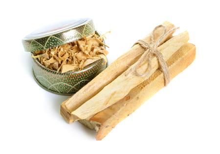 Palo santo, Holy Wood sticks isolated on white background