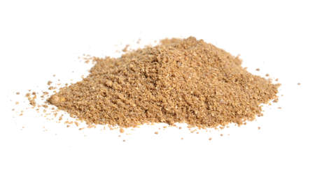 Coriander seeds powder. It is also known as Chinese parsley, dhania or cilantro. Isolated
