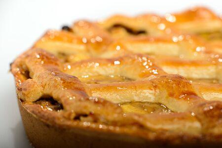 Whole apple pie, depth of field Imagens