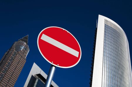 forbade: traffic sign