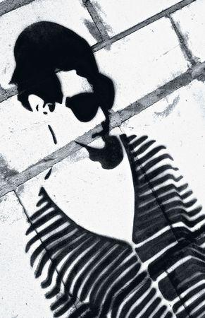 abuses: Grafitti  Stock Photo