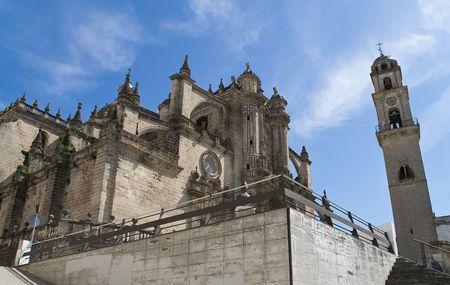 Schroot uitzicht op de kathedraal van Jerez de la Frontera