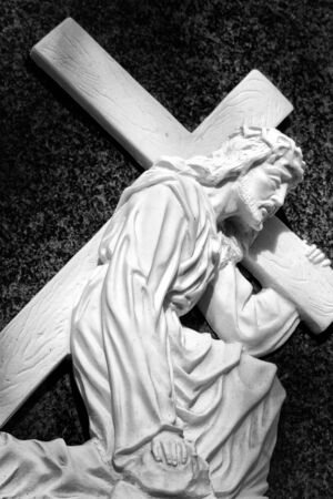Christ with cross Stock Photo - 6735615