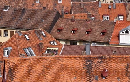 house gables: House roof Stock Photo