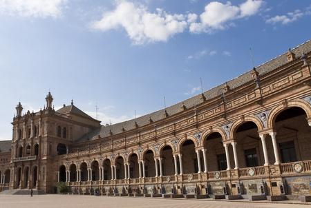 plaza: Plaza des Espana im Andalusischen Sevilla, Spanien Stock Photo