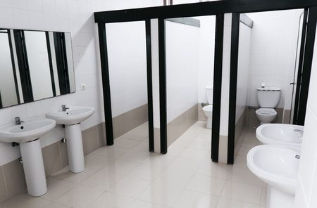 View in a public toilet