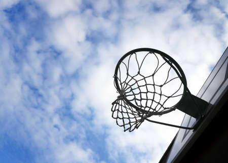Basketball outdoors photo