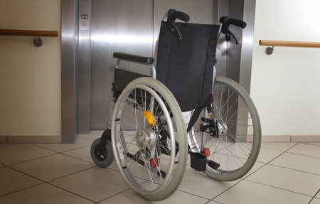 wheelchair Standard-Bild