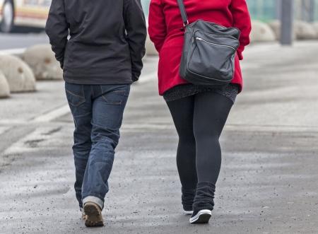 Girlfriends taking a walk in the city
