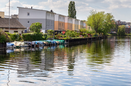 Living in the water city in Berlin Spandau Stock Photo