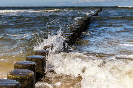 small waves on the Baltic Sea photo