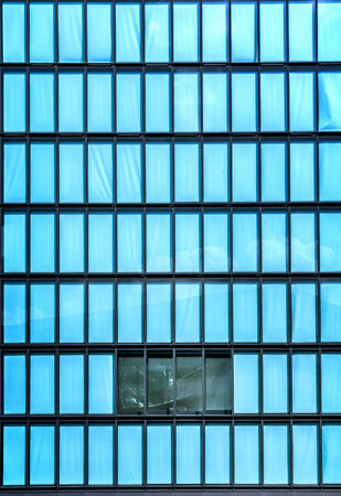 inscrutable: House facade made of glass