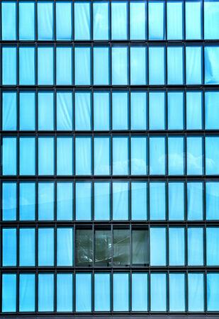 conspiratorial: House facade made of glass