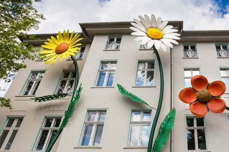 Decoration of an apartment building in Berlin Editoriali
