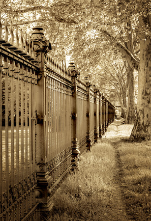 cast off: Fence on private plot