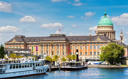 State parliament and pier in Potsdam