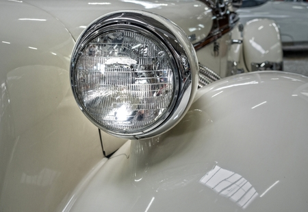 Detail photo of a vintage car