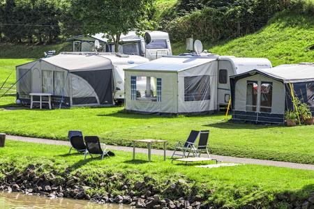 Campsite Stockfoto