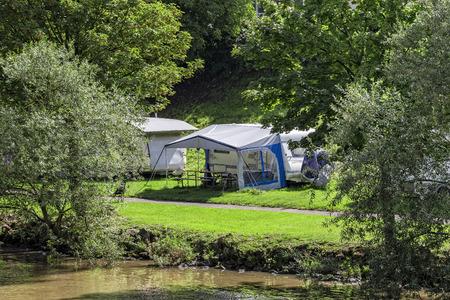 Camping Stockfoto
