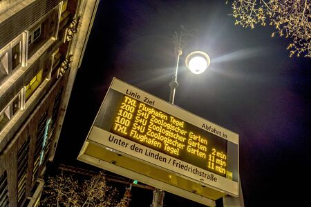just in time: Bus stop in Berlin