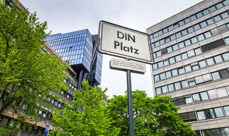 standardization: DIN Platz in Berlin