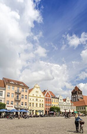 gabled houses: Marketplace in Greifswald