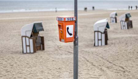 cry for help: on the beach of Usedom