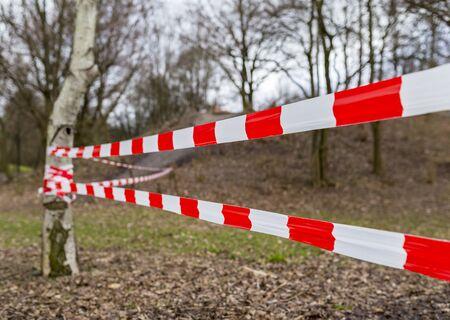do not cross: Do not Cross the Line Stock Photo