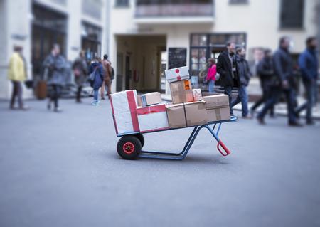 Levering van pakketten